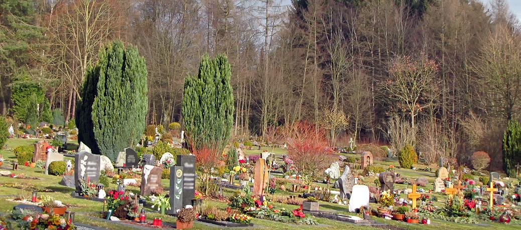 Gräberfeld auf dem Waldfriedhof