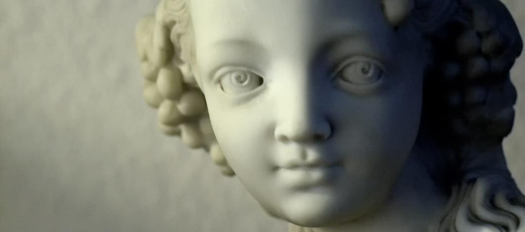 Gesicht einer Statue