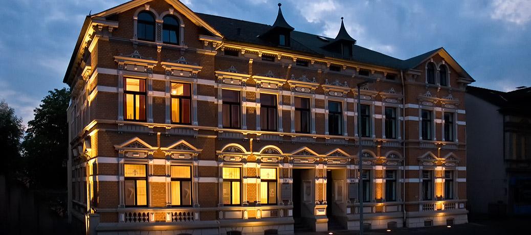 Das Gebäude des Bestattungshauses Albert & Stahl