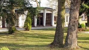Die Kapelle auf dem evangelischen Friedhof in Menden