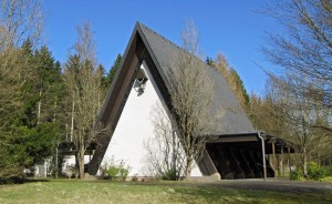 Die Kapelle auf dem Mendener Waldfriedhof